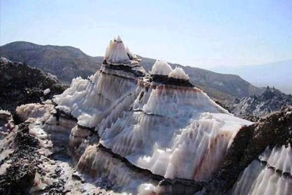 Dissolution de dôme de sel en affleurement de surface, Iran