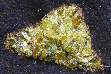 Détail d'un nodule d'olivine