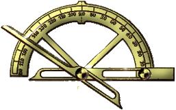 Goniomètre est utilisé pour mesurer les angles des cristaux.