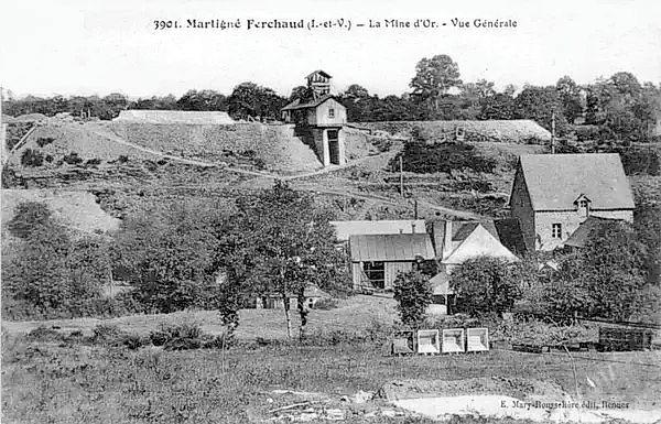 Mine d'or, Martigné Ferchaud, Ille et Vilaine.