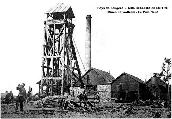 La mine de Montbelleux, carte postale.