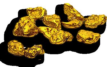 Pepites d'or.