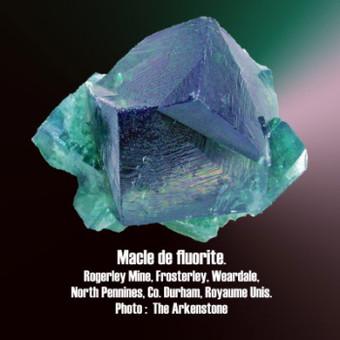 fluorite maclée.