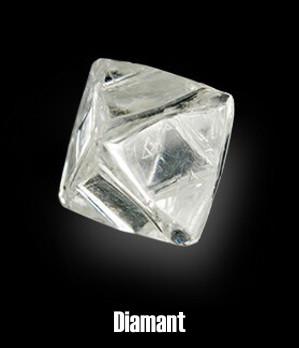 Diamant brut octaédrique.