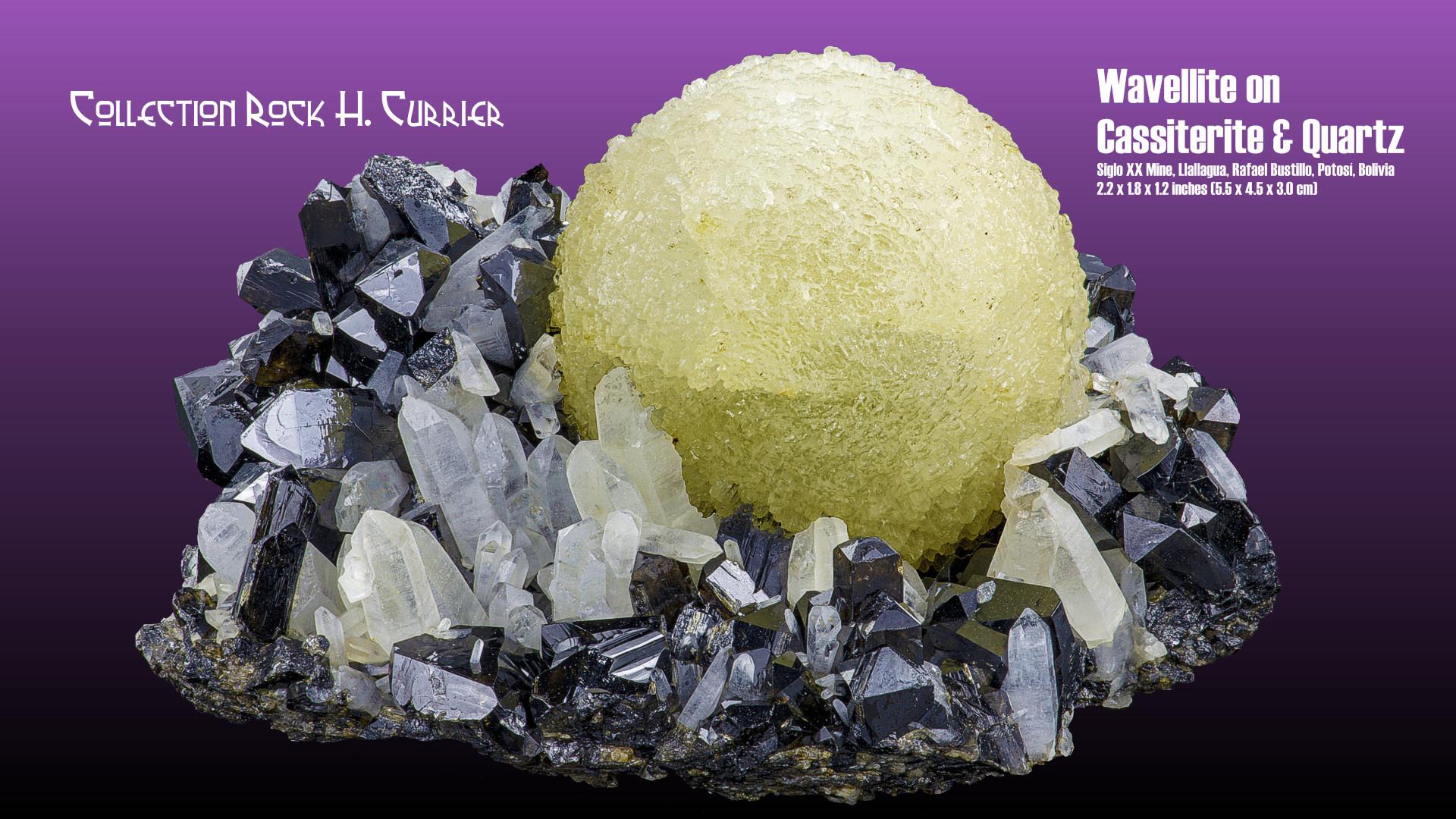 Wavellite on Cassiterite & Quartz.jpg