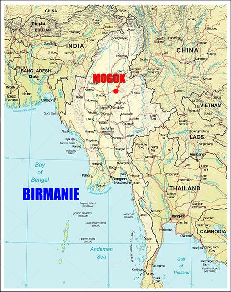 Carte de birmanie, Mogok