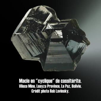 Cassiterite macle cyclique.