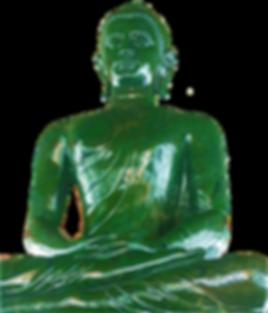 Bouddha de Jade de Wat Dammamongkol,  Jade néphrite  taillé dans un bloc de 32 tonnes provenant de Colombie Britannique au Canada.