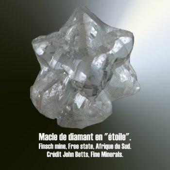 Diamant macle en étoile