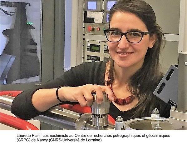 Laurette Piani, cosmochimiste au Centre