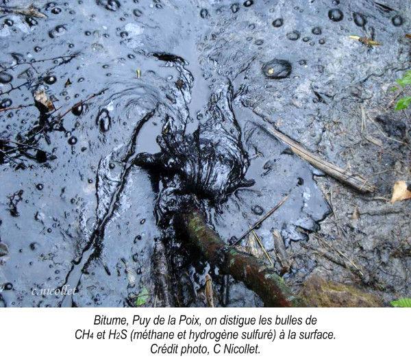 Bitume, Puy de la Poix.