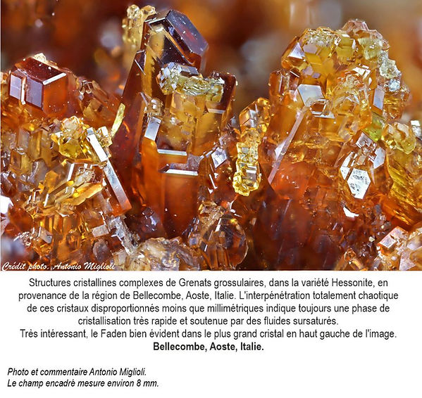 Grenats grossulaire Var. Hessonite de cr