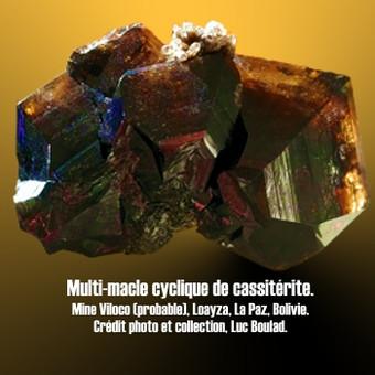 Cassiterite macle multiple en roue.