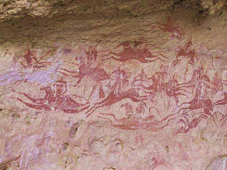 Petroglyphe dans l'Ennedi.