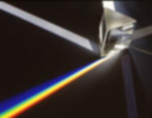 Diffraction du spectre de la lumière solaire.