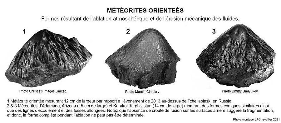 Météorites orientées.