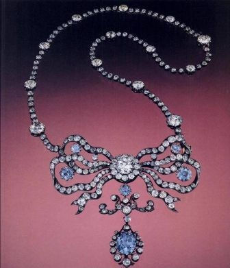 "The Blue Diamond Cullinan Necklace""."