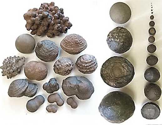 Moqui marble formes et tailles.