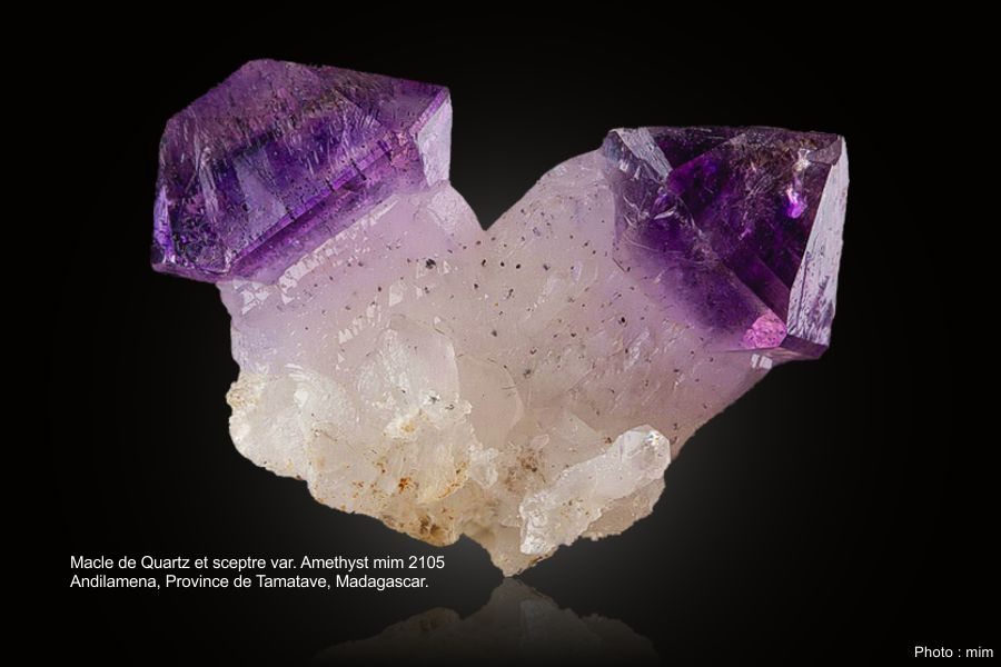 Macle quartz et amethyste
