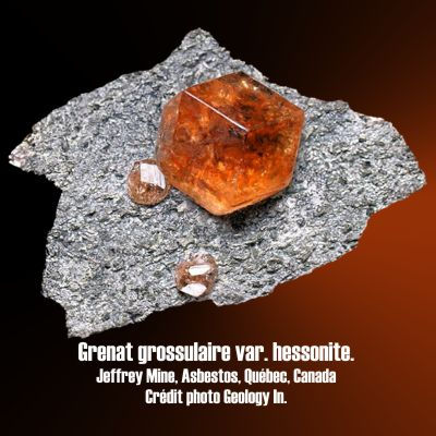 Grenat Grossulaire, Hessonite.