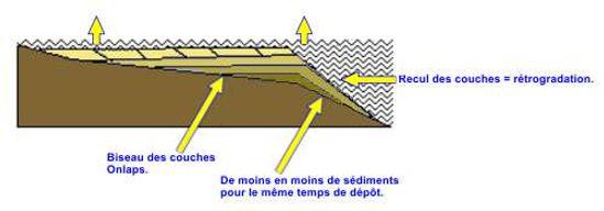 La eétrogradation des couches lors de la régression
