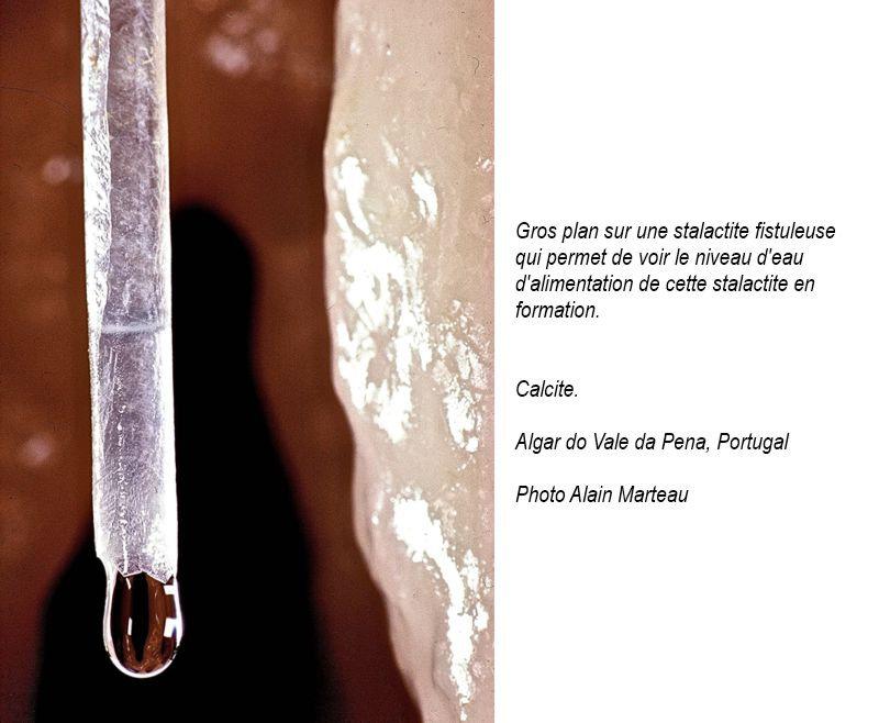 Vermicule fistuleuse de calcite.