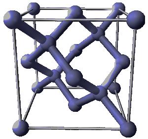 Structure cristalline du silicium