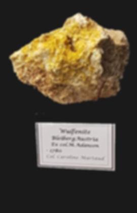 Wulfénite Bleiberg, collection C. Maraud.