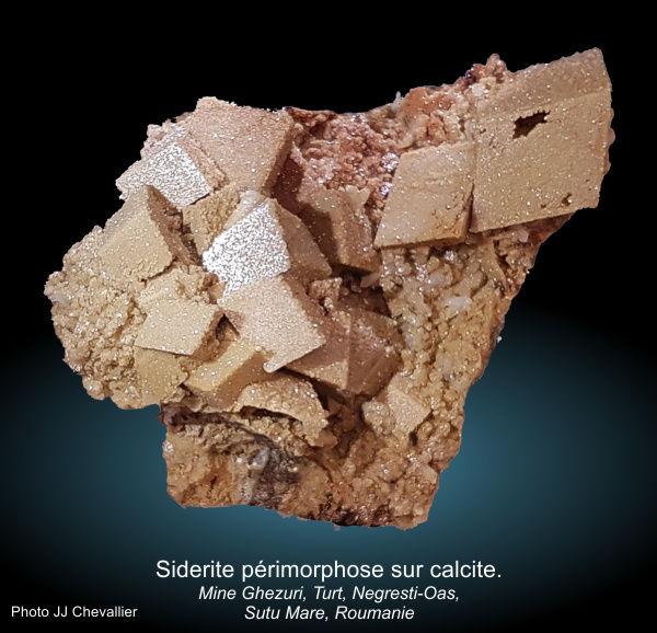 Périmorphose sidérie sur calcite.jpg