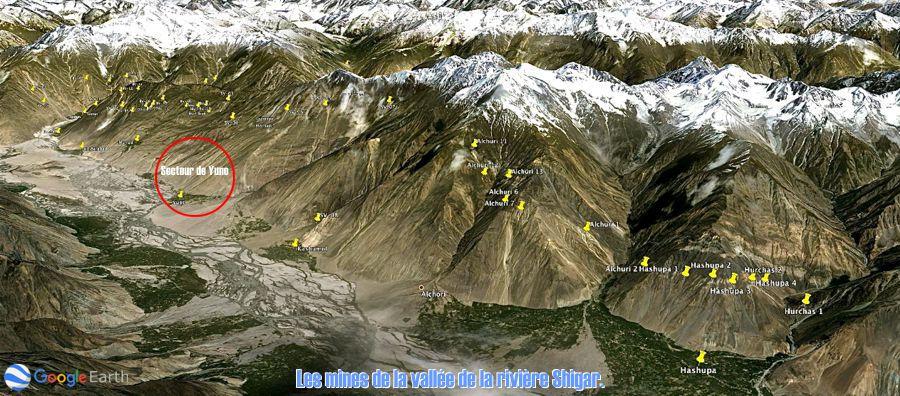 Le smines de la région de Shigar