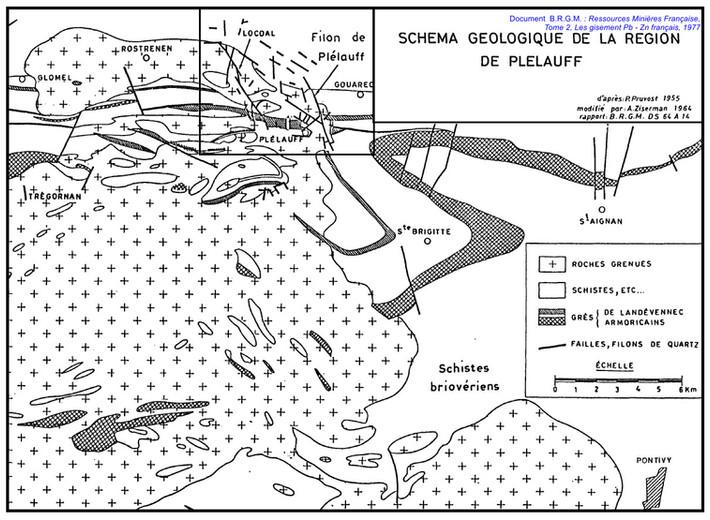 Plélauff Schéma géologique.