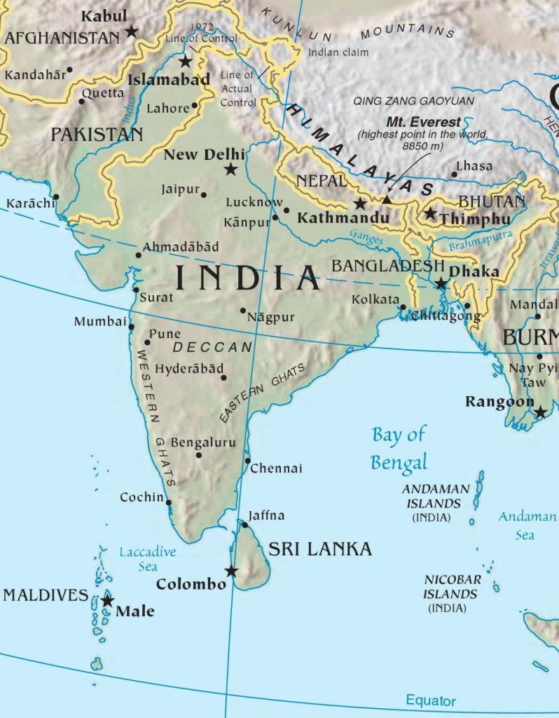 Carte général de l'Inde