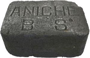 Briquette de lignite.