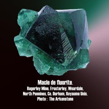 Fluorite macle.