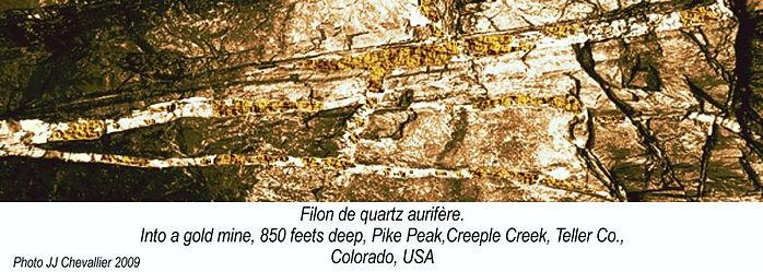 Filon de quartz aurifère colorado