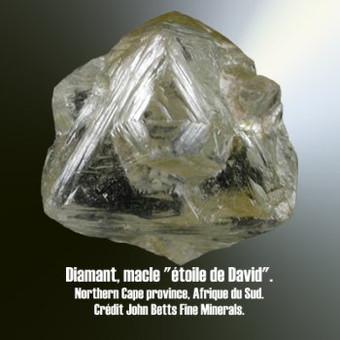diamant macle en étoile de David