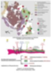 Carte geologique et gemmologique de Tanzanie.