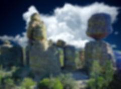One of the big balanced rocks - Chiricahua.