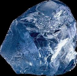 Diamant bleu de Cullinan mine.