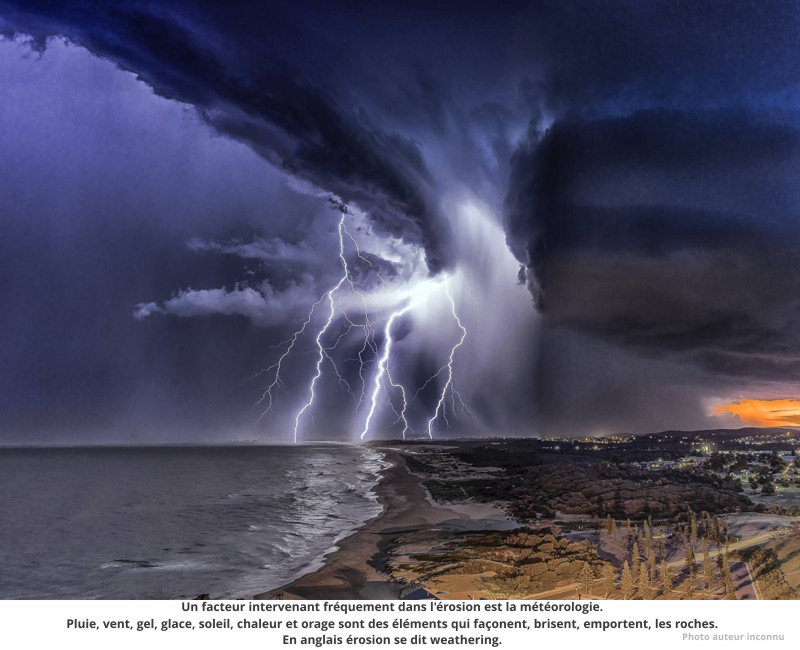 Gros orage.