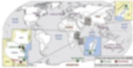 Carte des gisements de Tsavorite dans le monde.