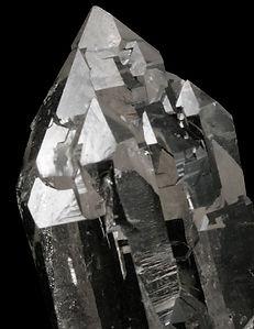 Quartz macle du Dauphiné Chia Mine, Sao Jose do Safira, Minas Gerais, Brésil.
