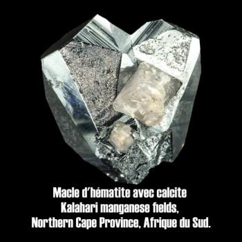 Hematite macle avec calcite.