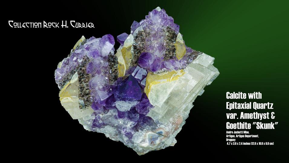 Calcite with Epitaxial Quartz var. Ameth