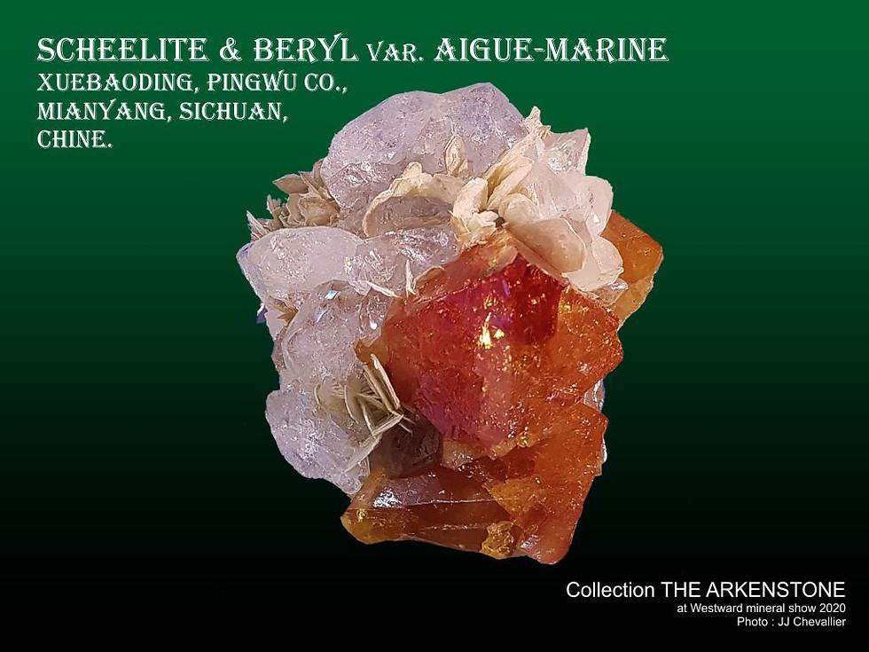 Scheelite & Aigue-marine.