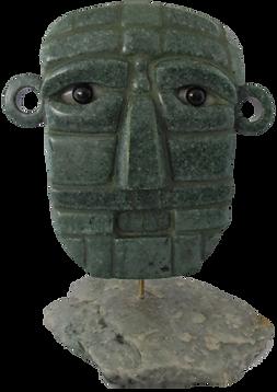 Masques Olmèques  Jade jadéite des carrières de la Sierra de las Minas à Zacapa, dans la vallée de la rivière Motagua