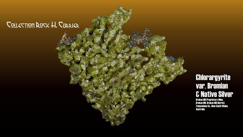 Chlorargyrite var. Bromian & Native Silv