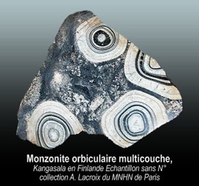 Monzonite orbiculaire multicouche.