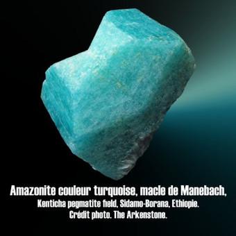 Amazonite macle de Manebach