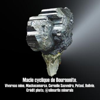Bournonite macle cyclique